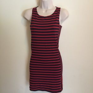 Fighting Eel Women's Sleeveless Tank Dress Striped